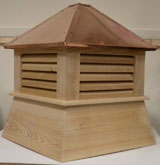 22''cypres 1-2 car garage cupola